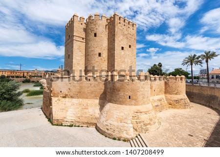 Stock photo: Ancient Roman Bridge Entrance River Guadalquivir Cordoba Spain