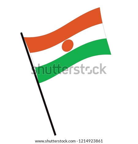 National flag of Niger with correct proportions, element, colors Stock photo © tkacchuk