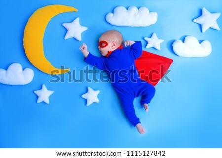 Foto stock: Bebê · ilustração · criança · masculino · celebração