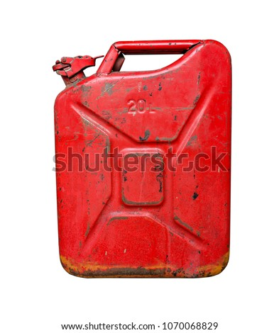 metal fuel tank or jerry can for transporting and storing gasoli Stock photo © FrameAngel