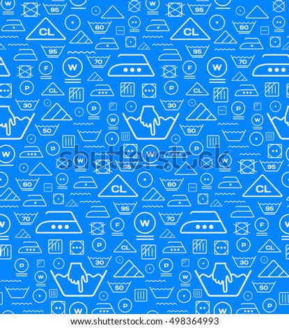Padrão lavanderia lavagem símbolos azul sem costura Foto stock © m_pavlov
