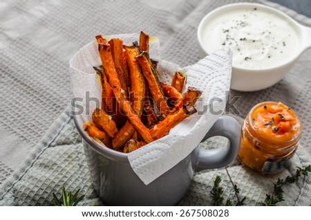 Sani vegetali chip patatine fritte sedano carote Foto d'archivio © Peteer