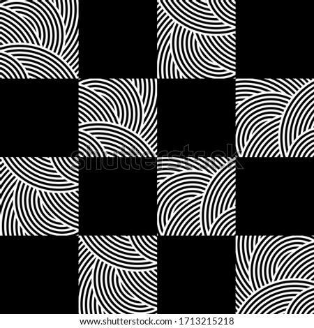 Vector Seamless Black And White Arrows  Arcs Geometric Pattern Stock photo © CreatorsClub