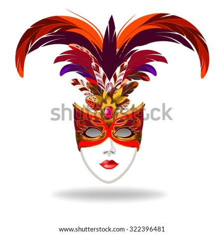 Mask of white feathers Stock photo © blackmoon979