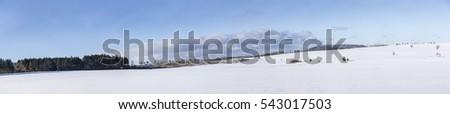 Manzaralı kış manzara doğa kar dağ Stok fotoğraf © meinzahn
