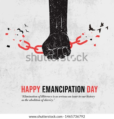 Emancipation from slavery. break free. Chains on slave hands. Re Stock photo © popaukropa