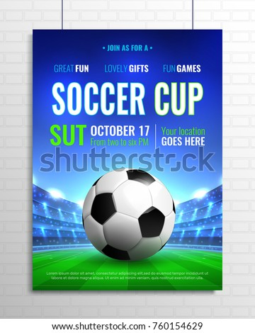 football tournament vector background design with light effects Stock photo © SArts