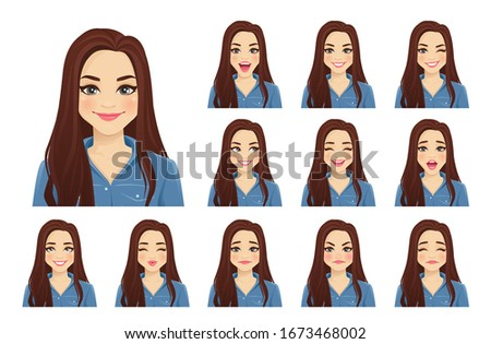 Happy, Smiling and Laughing Avatar of Cartoon Character in Flat Vector Stock photo © Loud-Mango