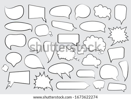 Vacío bocadillo anunciante volante negocios Foto stock © masay256