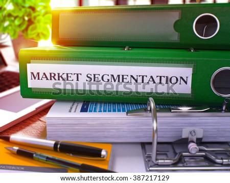 Market Segmentation on Office Folder. Blurred Image. 3D Illustration. Stock photo © tashatuvango