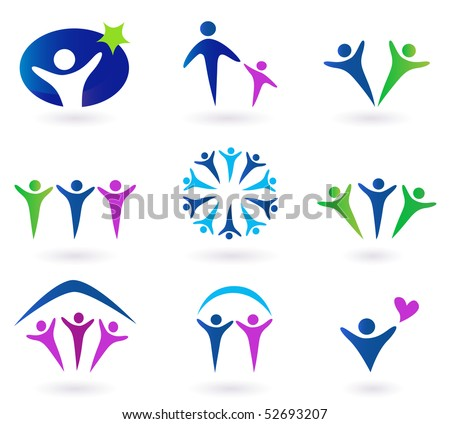 simple · inmobiliario · iconos · vector · ordenador - foto stock © lordalea