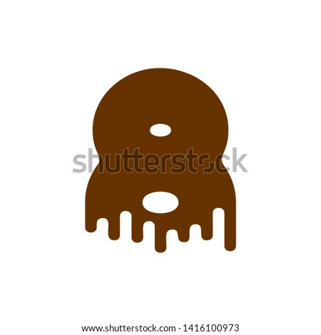 Number 8 Chocolate font. Sweetness numeral eight alphabet. Liqui Stock photo © MaryValery