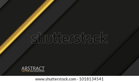 Black and gold modern overlap paper layers with free space for your text, material design, vector ab Stock photo © kurkalukas