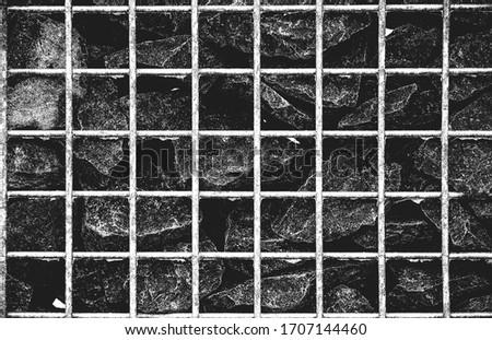 Chunks of concrete and metal on a background of a wall of the de Stock photo © AlisLuch