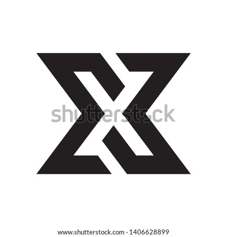 Abstract geometric letter X logo template with hexagonal element object. infinite cube box shape ico stock photo © taufik_al_amin