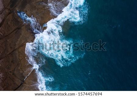 Top Ansicht verlassen Küste Ufer Insel Stock foto © vlad_star