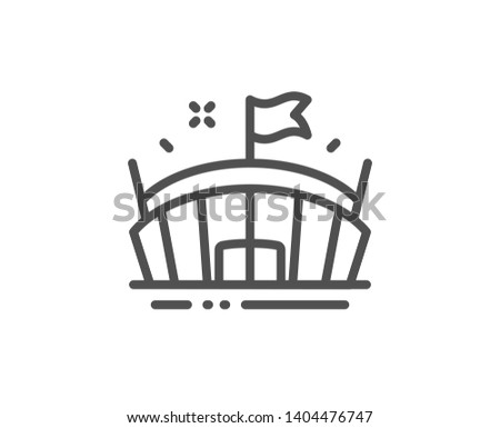 Stadium sign. Football arena icon. Sports building symbol. Vecto Stock photo © MaryValery