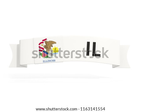 illinois state flag on banner with postal abbreviation isolated  Stock photo © MikhailMishchenko