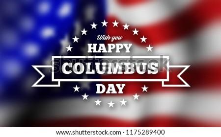 mutlu · gün · afiş · tebrikler · amerikan · bayrağı · poster - stok fotoğraf © m_pavlov