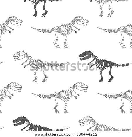 Esqueleto dinossauro ossos ornamento crânio Foto stock © popaukropa
