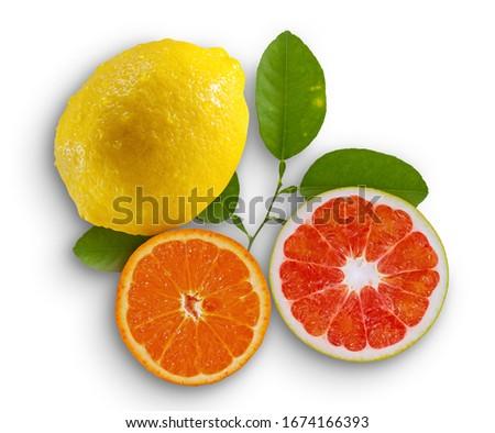 toranja · isolado · branco · fundo · amarelo · doce - foto stock © denismart
