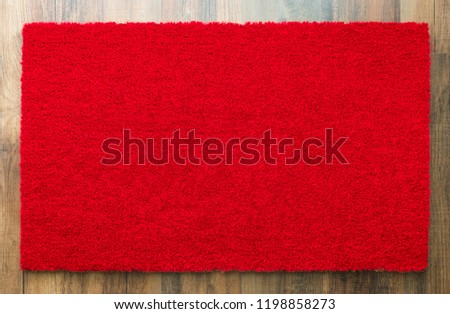 Blank Red Welcome Mat On Wood Floor Background Ready For Your Ow Stock photo © feverpitch