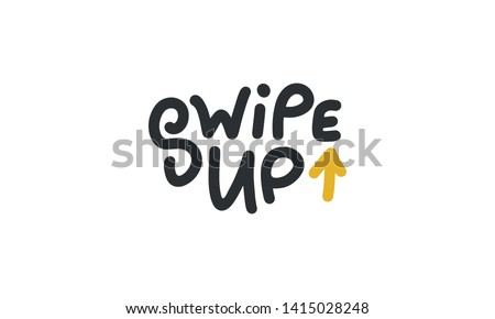 Modern Kids Icon, hands down and up, vector illustration isolated on white background. stock photo © kyryloff