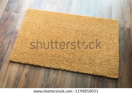 Blank Welcome Mat On Wood Floor Background Ready For Your Own Te Stock photo © feverpitch