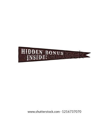 Icon verborgen bonus binnenkant citaat silhouet Stockfoto © JeksonGraphics
