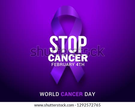 World cancer day symbol, 4 february. Ribbon symbol. Medical Design. Vector illustration Stock photo © olehsvetiukha