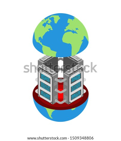 Server room. Data center Isometric style. Internet industry. Dat Stock photo © MaryValery