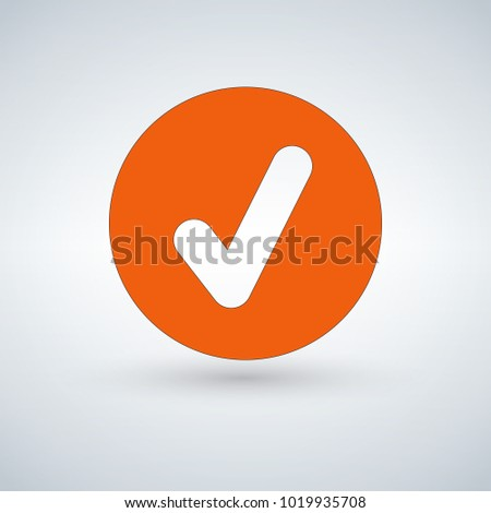 Tick sign element. orangr checkmark icon isolated on white backg Stock photo © kyryloff