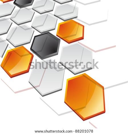Siyah turuncu mektup petek model vektör Stok fotoğraf © cidepix