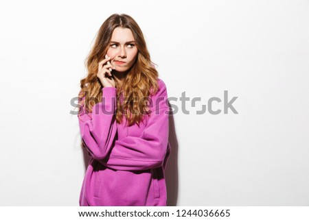 Retrato chateado mulher 20s suéter Foto stock © deandrobot