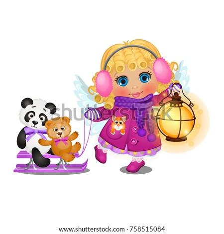 weinig · panda · bamboe · gras · speelgoed · zwarte - stockfoto © lady-luck