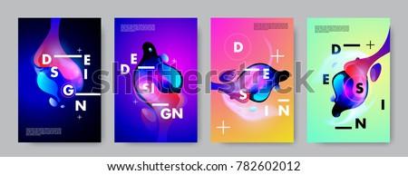verslag · brochure · flyer · ontwerpsjabloon · golvend - stockfoto © pikepicture