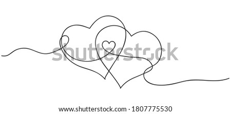 Hearts connection gives rise to a new life. Heart shape outlinie silhouettes and lettering baby to b Stock photo © ESSL