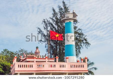 Dinh Cau lighthouse symbol of the island Phu Quoc, Vietnam. Phu Quoc is a Vietnamese island off the  Stock photo © galitskaya