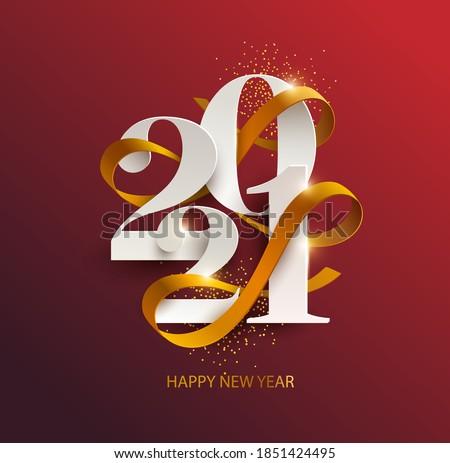 Stok fotoğraf: Happy · new · year · kış · imzalamak · tatil