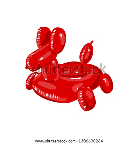 Giant Red Dog Balloon Inflatable Pool Float. Durable Summer Pool Toy. Vector illustration on white b Stock photo © bonnie_cocos