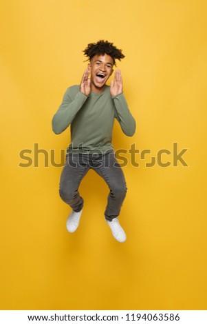 фото удовлетворенный африканских парень Сток-фото © deandrobot