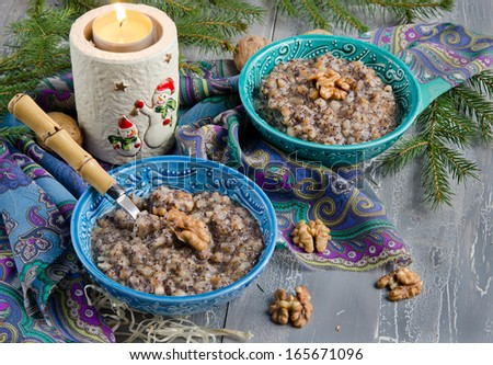 Traditional sweet meal kutia. Christmas dish in Ukraine, Belarus Stock photo © furmanphoto