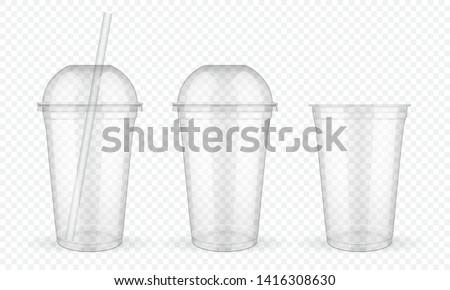 plastic · beker · transparant · vector · koffie - stockfoto © pikepicture
