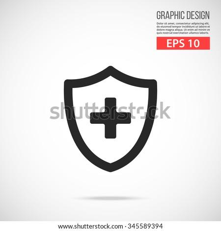 Tıbbi kalkan çapraz ikon web afişler Stok fotoğraf © kyryloff