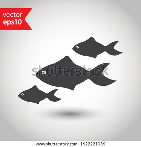 Zwierząt mały ryb ilustracja charakter Zdjęcia stock © colematt