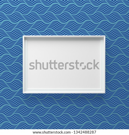 Elegant picture frame standing on wall with dark wave pattern Stock photo © adamr