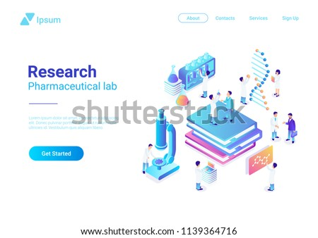 isometric flat vector concept of genetic engineering dna structure changing stock photo © tarikvision