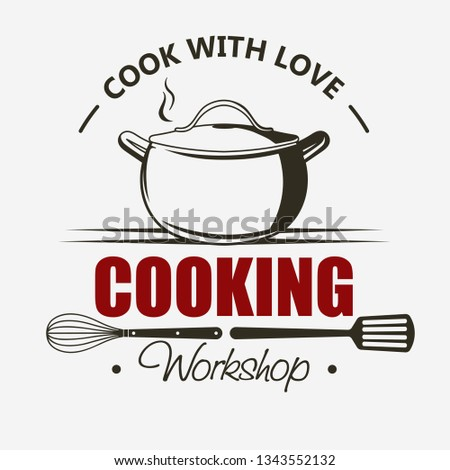 Cooking symbol, Cook emblem, Food masterclass label template vector Stock photo © Andrei_