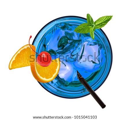 Blauw cocktails witte Stockfoto © dla4