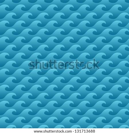 Lata czasu niebieski wody bezszwowy wzór Zdjęcia stock © olehsvetiukha